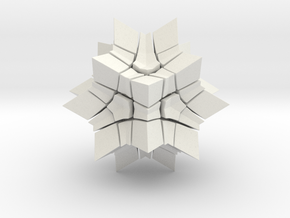Megaminx Inward V2 in White Strong & Flexible: Medium