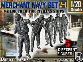 1-20 Merchant Navy Crew Set 2-4 in White Natural Versatile Plastic