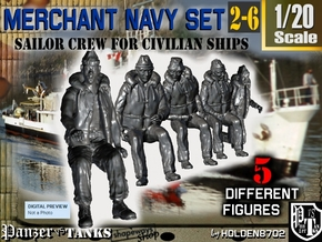 1-20 Merchant Navy Crew Set 2-6 in White Natural Versatile Plastic