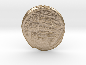 Roman coin in Polished Gold Steel