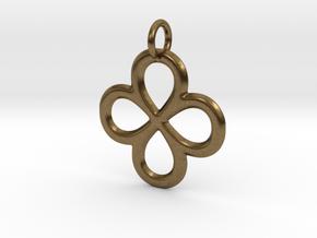 Dual Infinity Flower Pendant in Natural Bronze