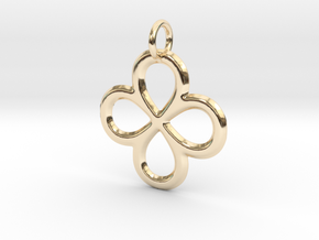 Dual Infinity Flower Pendant in 14K Yellow Gold