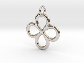 Dual Infinity Flower Pendant in Platinum