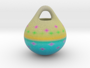 Pink and Blue ORNAMENT in Full Color Sandstone