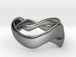 Smooth Weave Ring in Polished Silver: 5 / 49