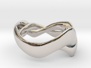 Smooth Weave Ring in Rhodium Plated Brass: 5 / 49