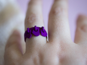 Heart Charm Ring in Purple Processed Versatile Plastic: 6.5 / 52.75