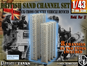 1-43 British Sand Channel Set in Frosted Ultra Detail