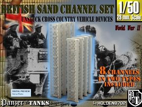 1-50 British Sand Channel Set in Smooth Fine Detail Plastic
