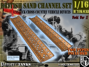 1-16 British Sand Channel Two Types in White Natural Versatile Plastic