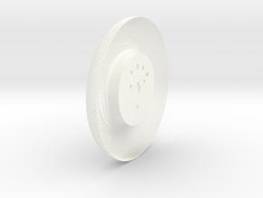 C-LRV wheel inner mesh & hub-FL&BR in White Strong & Flexible Polished