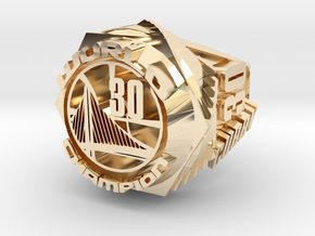 Curry championship Ring in 14k Gold Plated Brass