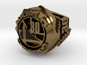 Curry championship Ring in Polished Bronze