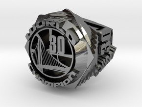 Curry championship Ring in Polished Silver