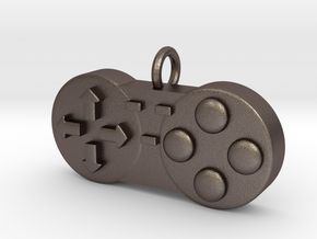 Controller Charm in Polished Bronzed Silver Steel