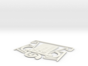 TYE Business card stand in White Strong & Flexible
