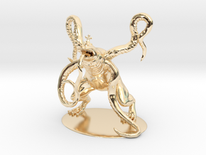 Froghemoth Miniature in 14k Gold Plated Brass: 1:60.96