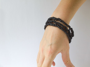 Bracelets Nigella Freia in Black Natural Versatile Plastic: Large