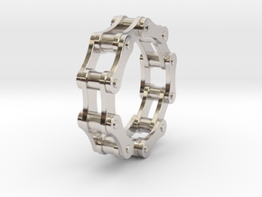 Violetta S. - Bicycle Chain Ring in Rhodium Plated Brass: 9 / 59