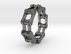 Violetta S. - Bicycle Chain Ring in Polished Silver: 9 / 59