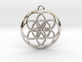 Seed Of Life in Rhodium Plated Brass: Small