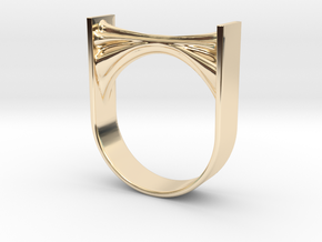 Synapse Micro Ring in 14k Gold Plated Brass: 6 / 51.5