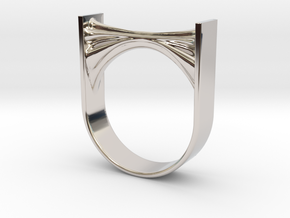 Synapse Micro Ring in Rhodium Plated Brass: 6 / 51.5
