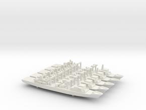 Type 903A replenishment ship x 5, 1/1800  in White Natural Versatile Plastic