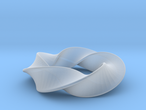 Python 3-5 Torus Knot Pendant in Smooth Fine Detail Plastic