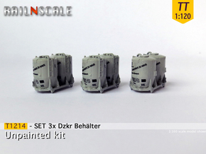 SET 3x Dzkr 501 Behälter (TT 1:120) in Frosted Ultra Detail