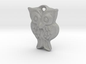 Owl pendant in Aluminum