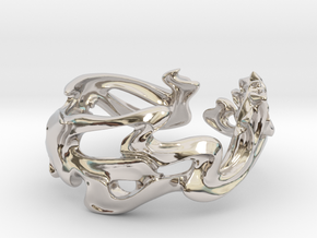 Calla Lilies Ring in Rhodium Plated: 6.5 / 52.75