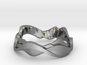 Sharp Edges Ring in Polished Silver: 5 / 49