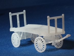 Baggage Cart Kit S Scale Two Pack in Smooth Fine Detail Plastic