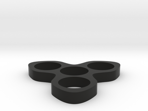 The Turbine Fidget Spinner Toy in Black Natural Versatile Plastic