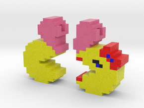 Pac-Man Pendant Halves in Full Color Sandstone