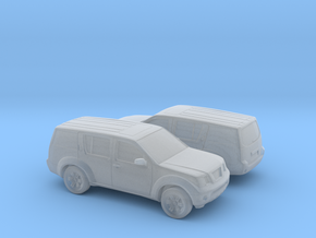 1/148 2X 2004-13 Nissan Pathfinder in Smooth Fine Detail Plastic