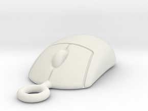 Mouse 1505161043 in White Natural Versatile Plastic