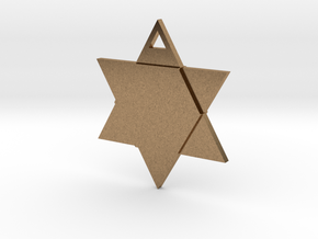 Star of David - Simple in Natural Brass