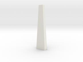 Pylon Wdw Single 100mm (HO) in White Natural Versatile Plastic