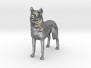 1/24 or G scale Siberian Husky Male Standing in Natural Silver