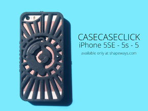 CASECASE CLICK for iPhone 5SE - 5s - 5 : redial in Black Strong & Flexible