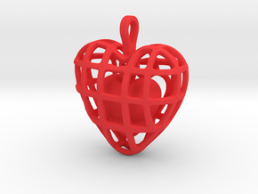 Touch Of The Heart Pendant in Red Processed Versatile Plastic