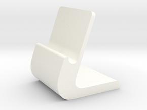 iPhone Stand in White Processed Versatile Plastic