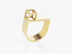 FACADE Nº 1 RING in 14k Gold Plated: 7.5 / 55.5