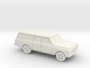 1/87 1971-72 Chevrolet Suburban in White Natural Versatile Plastic