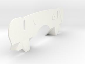 Modified Firewall for '69 Foose Camaro 1/12 in White Processed Versatile Plastic