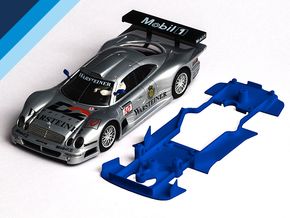 1/32 Ninco Mercedes CLK GTR Chassis Slot.it pod in Blue Strong & Flexible Polished