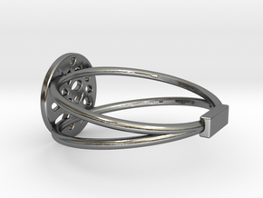 RING MAGNETIC LOBULAR in Polished Silver