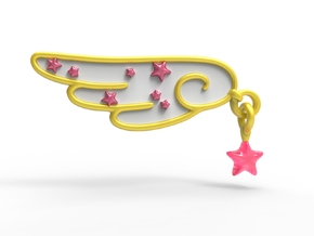 Card Captor Sakura: Cosplay Barrette in White Natural Versatile Plastic